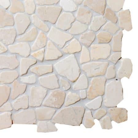 Mosaiikki valkoinen marmori
