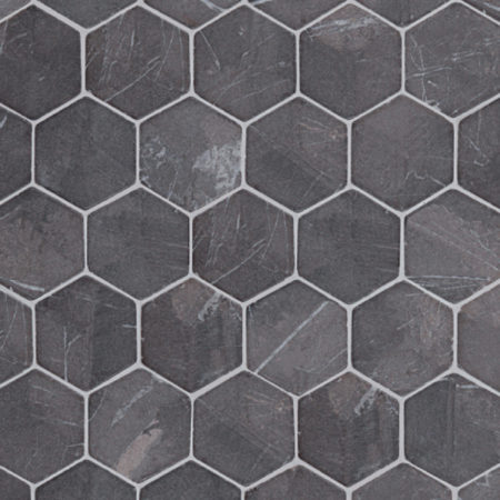 kuusikulmainen hexagon harmaa marmori mosaiikki, 60x60mm