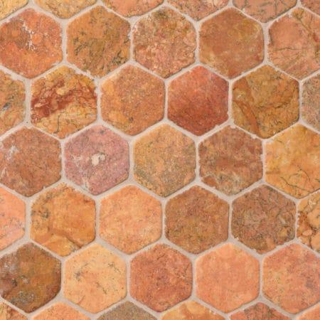 kuusikulmainen hexagon Terrakota marmori mosaiikki, 60x60mm