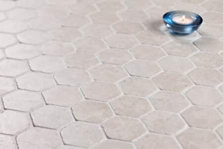 kuusikulmainen hexagon valkoinen marmori mosaiikki, 60x60mm
