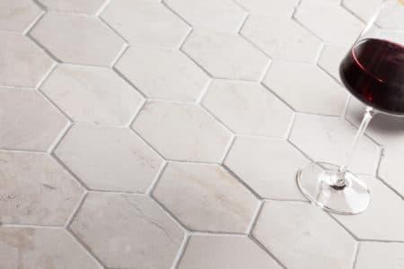 kuusikulmainen HEXAGON valkoinen laatta 100x100mm