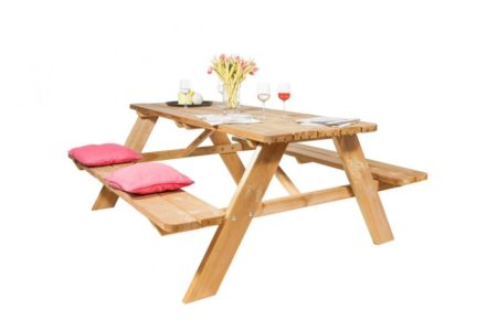 Piknik-pöytä / Puutarha pöytä 175x180cm