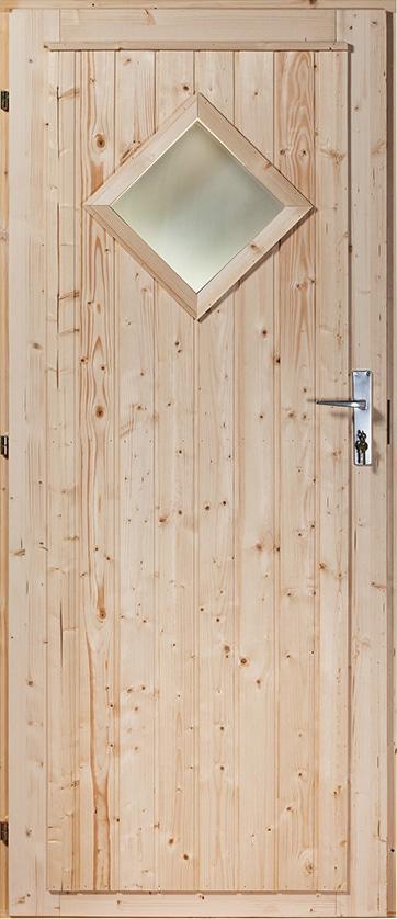 Etuovi Mänty/Kuusi ('Diamond' ikkuna) 10x21 - 988x2078mm (vasemmalle) lukko standardi