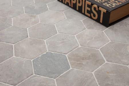 kuusikulmainen Hexagon vaalean harmaa laatta 100x100mm