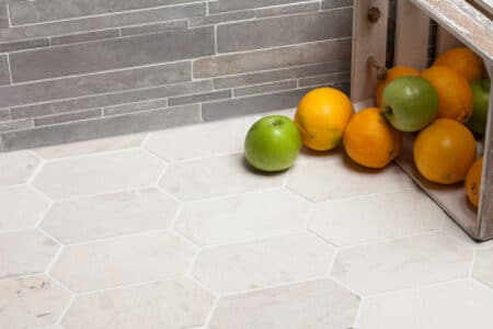 Picket 100x200mm valkoinen marmori